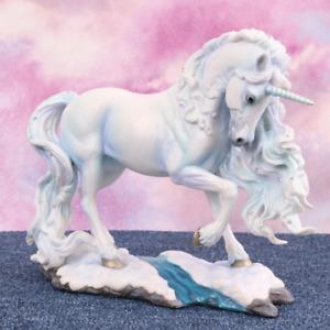 PURE SPIRIT 24CM UNICORN FIGURINE ORNAMENT WHITE STATUE GIFT