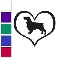 Love Field Spaniel Dog Heart Decal Sticker Choose Color + Size #1457