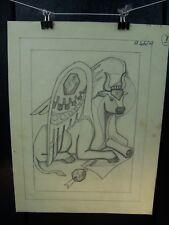 """""""St. Luke (Ox)"""" 1946-59 Original Pencil Sketch By C. Schattauer Kelm"""