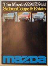 MAZDA 929 SALOON COUPE ESTATE orig 1976 1977 UK Mkt Sales Brochure
