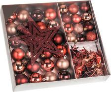 Christbaumschmuck 45 -teilig - Rot - Christbaumkugeln Baumschmuck Baum Kugeln