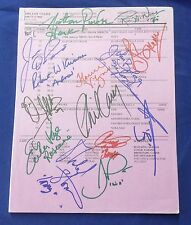 """Original May12, 1999 cast signed """"One Life to Live"""" TV Soap Script 14 members"""