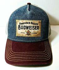 ANNEUSER-BUSCH Men's BUDWEISER Adjustable Hat Cap NWOT