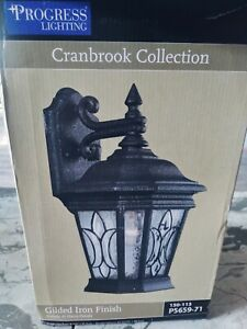 Wall Lantern with Gilded Iron Finish Brand New Never Installed