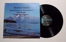 BROOME COUNTY MUSIC EDUCATORS ASS. 16th Elementary Festival LP MC-2024 US VG+ 5B