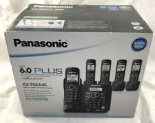 Panasonic KX-TG6645B DECT 6.0 Cordless Phone with Answering System, 5 Handsets