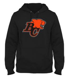 Men's BC Lions British Columbia Black Primary CFL Football Hooded Sweatshirt
