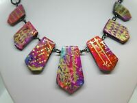 Statement Rainbow Necklace / Multicolor Necklace / Wearable Art / Women Fashion