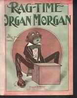 Ragtime Organ Morgan 1912 Large Format Sheet Music