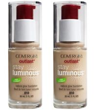 2 X Covergirl 30mL Outlast Stay Luminous Foundation 810 Classic Ivory Brand New