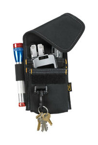 CLC  4 pocket Polyester Fabric  Tool Holder  3.5 in. L x 7 in. H Black