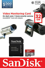 SANDISK MICRO SD 32GB scheda SDHC ideale per & 4K Ultra HD video per CCTV Sicurezza