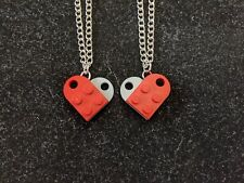 BrickCrafts BFF His/Hers Heart Necklaces (Matched Pair) ❤️ #LEGOHeartNecklace