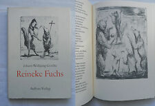 Johann Wolfgang Goethe REINEKE FUCHS Aufbau Verlag illustriert DDR D1