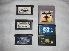 Gameboy Advance (6) Game Cartridge Lot Ice Age Dexters Lab Spongebob more