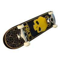 "SKATEBOARD Freestyle  7,5"" Naked SCELETON  legno wood acero 7 strati Black Gold"