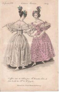Illustration Journal des dames et de la Mode—Costumes Parisiens—N° 3054—1833