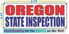OREGON STATE INSPECTION Banner Sign NEW LARGER SIZE Best Quality for the $$