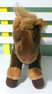Russ Berrie Brown Horse Plush Toy Children's Soft Animal Toy 30cm Tall!