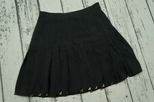 VERSACE fo H&M pure silk women skirt in black color, size M , 38  US8 , VGC