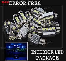 14x Bulbs For AUDI A6 05-2011 Canbus INTERIOR PACKAGE XENON BLUE LED LIGHT KIT
