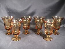 Fostoria Jamestown Iced Tea Amber Glasses Set of 6