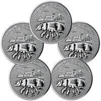 Lot of 5 2019 Great Britain Year Pig 1 oz Silver Lunar £2 Coins GEM BU SKU55398