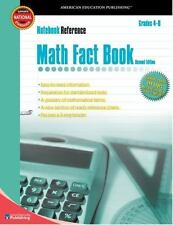 Math Fact Book: Grades 4-8 (Notebook Reference) 2nd Edition-ExLibrary