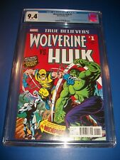 Incredible Hulk #181 True Believers Reprint 1st Wolverine CGC 9.4 NM Gem Wow