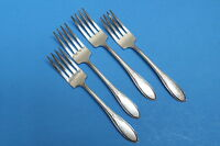 4 Vintage Wm Rogers Mfg Co 1938 Pickwick Silverplate Flatware Salad Forks