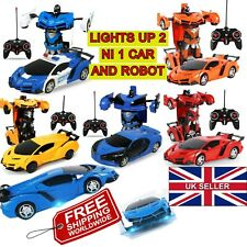 2 IN 1 SPORTS CAR REMOTE CONTROL VEHICLE TRANSFORMATION IN TO A ROBOT KIDS GIFTS