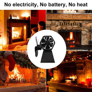 Stove Fan Thermal Power Ultra-Quiet Wood Stove Fireplace Fan for Chimney Indoor