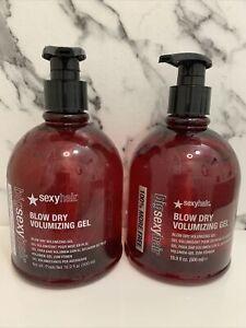2x Sexy Hair Blow Dry Volumizing Gel 16.9oz JUMBO NEW