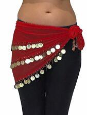3 Row Belly Dance Hip Wrap Scarf Skirt Belt Dancing Costume Belts FITS upto XXL
