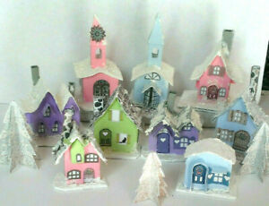CHRISTMAS PUTZ HOUSE vintage reproduction Make your own Village & decorate them