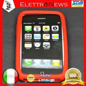 Custodia Cover TPU Rossa Iphone 3G Apple Antiurto