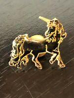Vintage Collectible Black Unicorn Metal Colorful Pinback Lapel Pin Hat Pin