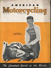1949 July American Motorcycling - Vintage Motorcycle Magazine Back-Issue