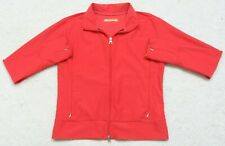 Lucy Athletic Jacket Size Small Exercise Polyester Lycra Coat Red Orange Womans