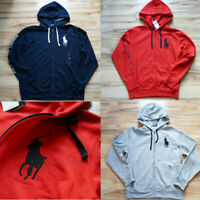 Men Polo Ralph Lauren Fleece Hoodie BIG PONY Soft Cotton Jacket Sweatshirt