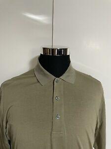 Boss Hugo Boss Polo Golf SS Short Sleeve Tan Shirt Mens L Large