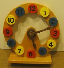 Handmade Antique TOY WOODEN CLOCK Die Drechselstube ERBACH/O.D.W.!!