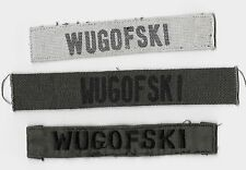 US Army Officer's Lot of 3 Theater Made Vietnam War era Name Tapes
