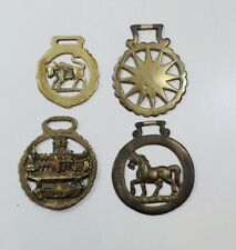 x4 Vintage Brass Horse Brasses Plaques Decorative Collectables Lot 5