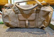 Leatherl Vintage duffle Shoulder Bag college travel handmade light brown