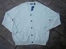 """Cardigan """"CLASSIC"""" with 5 Pockets ~ by CHAPS~Size XL~ SR $75 ~ Tan {Oatmeal}"""