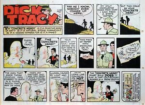 Dick Tracy by Chester Gould - large half-page color Sunday comic - July 27, 1975