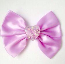 Pastel Purple Heart Hair Bow fairy kei kawaii sweet lolita pastel goth