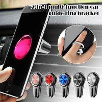 2in1 Multipurpose 360° Car Universal Mobile Phone Bracket Phone Stand Holder US