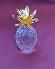 Scs Swarovski Pineapple Gold Leaf - New in Box With Certificate